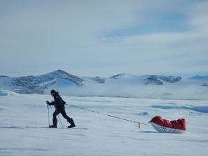 Dragging the 100kg sledge