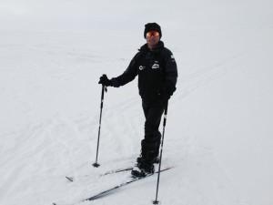Arjun on Skis
