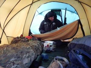 Jon in the tent